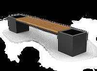 Скамейка с кашпо LP020