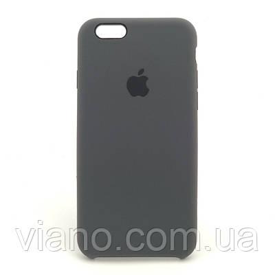 Силиконовый чехол iPhone 6/6S, Apple silicone case (Тёмно-серый)