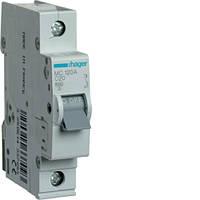 Автоматичний вимикач 1P 6kA C-20A 1M  MC120A Hager
