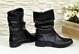 Женские зимние ботинки из натуральной кожи черного цвета, фото 4