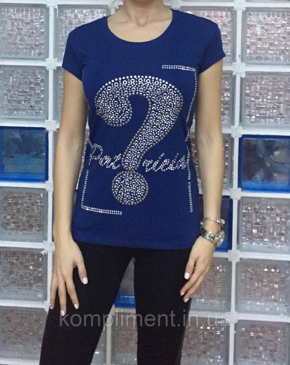 Летняя женская турецкая футболка с рисунком из камней