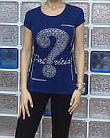 Летняя женская турецкая футболка с рисунком из камней, фото 1