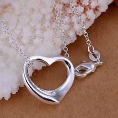 """Кулон жіночий маленьке сердечко на ланцюжку """"Радаме"""" покриття срібло 925"""