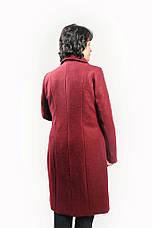 """Кардиган из пальтовой шерсти """"Меланж"""" на подкладке размеры 52-60, фото 3"""