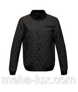 Мужская куртка бомбер City Class стеганый демисезонная темно-синяя