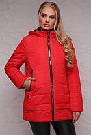 Женская деми куртка 17-095 красный