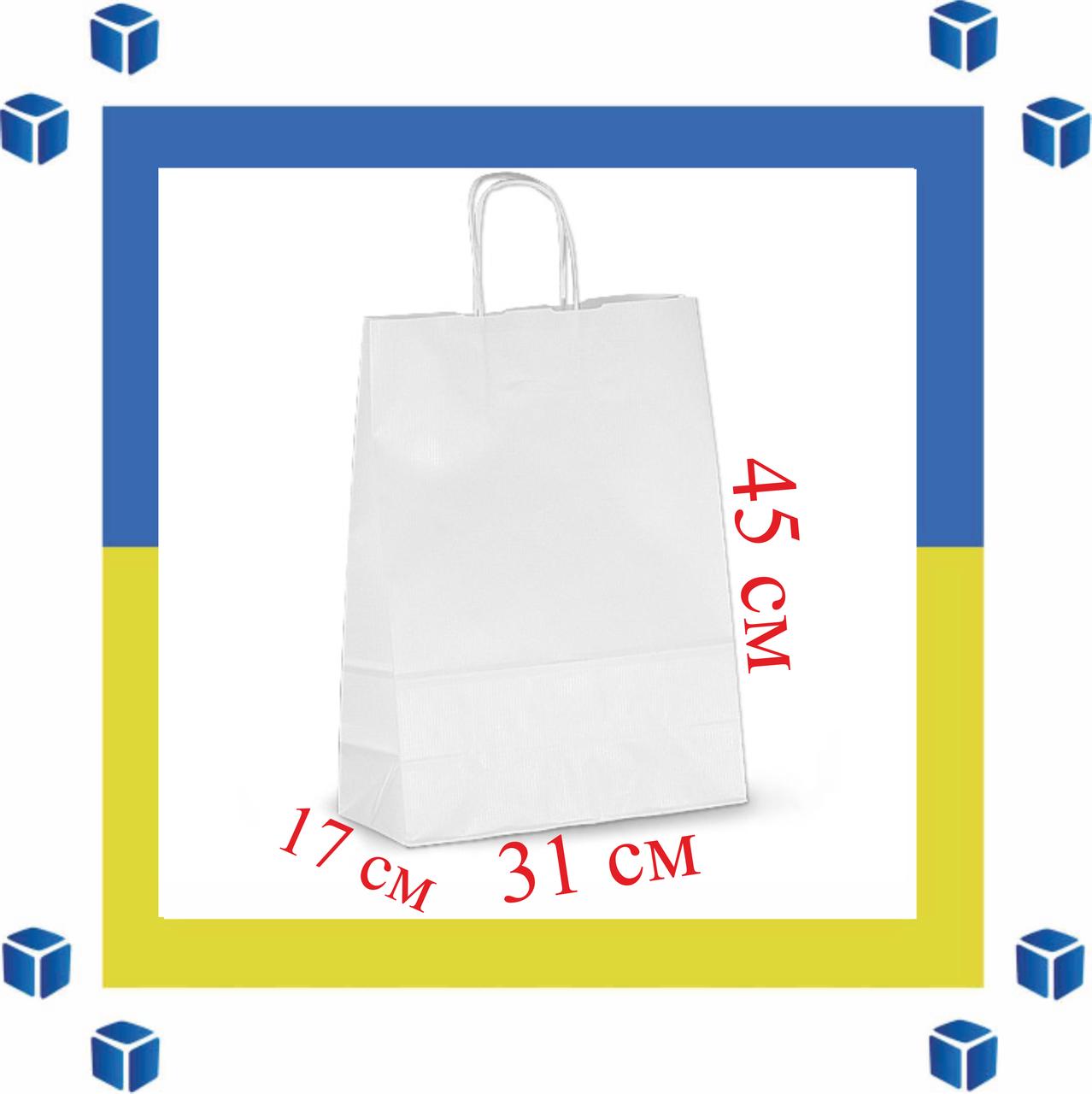 Бумажный пакет с витыми ручками (305мм/170мм/425мм)