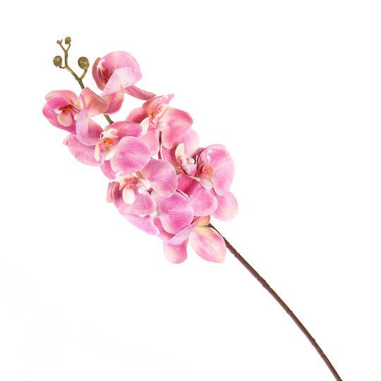 Орхидея розовая ( силикон 97 см.)