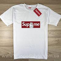 Футболка Supreme RipNDip collab. Белая мужская. Реальные фотки. Все размеры. Качество гарантируем