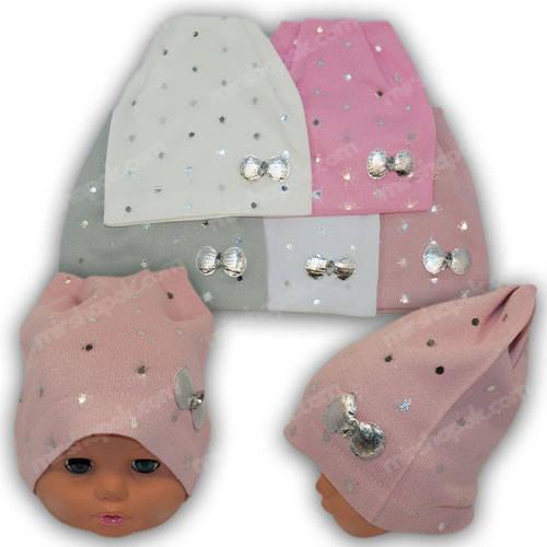 Вязаные шапки для девочек, р. 44-46