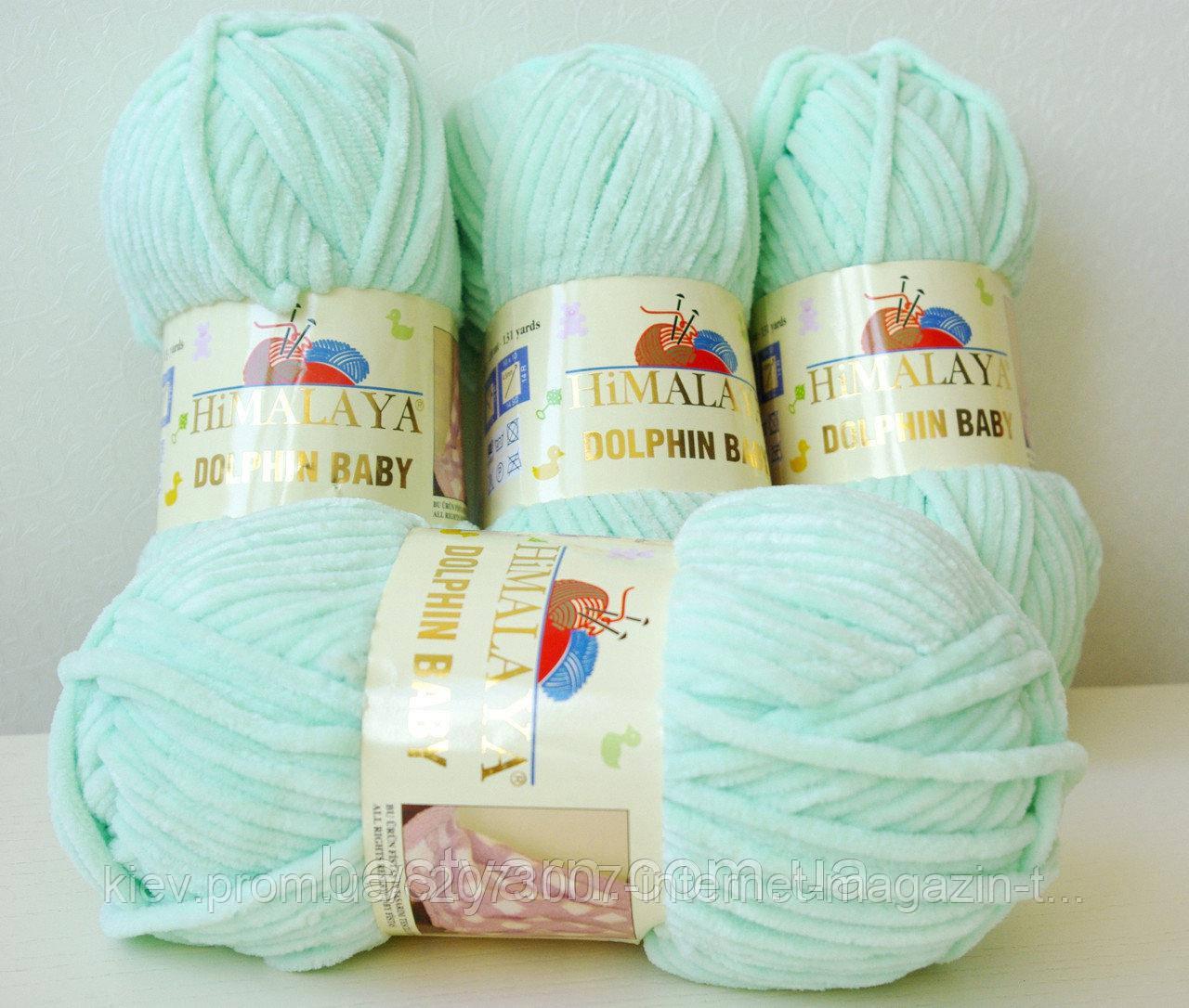нитки для вязания Dolphin Baby Himalaya 80307 мятный цена 65 грн