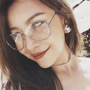 Имиджевые очки прозрачные капли