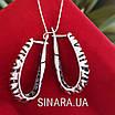 Серебряные серьги без камней Саванна, фото 2