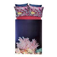 Двуспальное евро постельное белье TAC Blush Сатин-Digital