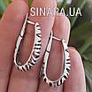 Серебряные серьги без камней Саванна, фото 8