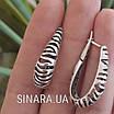 Серебряные серьги без камней Саванна, фото 7