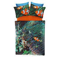 Двуспальное евро постельное белье TAC Nemo Сатин-Digital