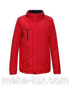 Куртка мужская Clasna демисезонная утепленная флисом оранжевая