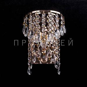Хрустальное бра на 2 лампочки (золото) P5-E1348/2W/FG