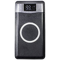 ➨Внешний аккумулятор Lesko Wireless Charger 10000 mAh Black беспроводной power bank для смартфона планшета
