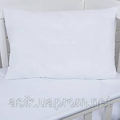 Дитяча подушка 60*40 подвійна біла