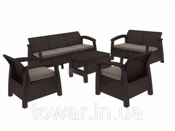 Набор садовой мебели CORFU Set Triple Max коричневый