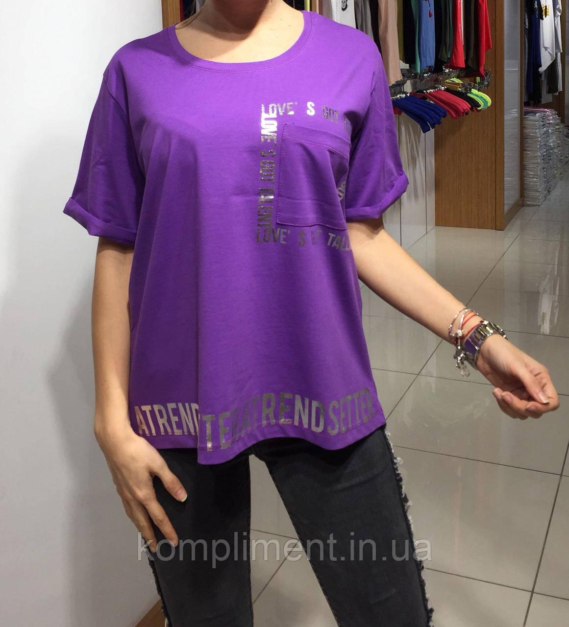 Летняя женская турецкая футболка полубатал