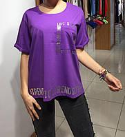 Летняя женская турецкая футболка полубатал, фото 1