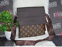 Мужская сумка LOUIS VUITTON с молниями по бокам.