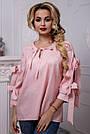 Женская рубашка хлопковая розовая в полоску, фото 3