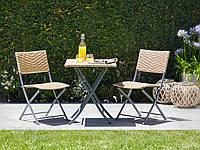 Комплект складной садовой мебели (2 стула + столик)