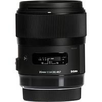 Объектив Sigma 35mm f1.4 DG HSM Art Lens for Canon DSLR Cameras (340-101), фото 1