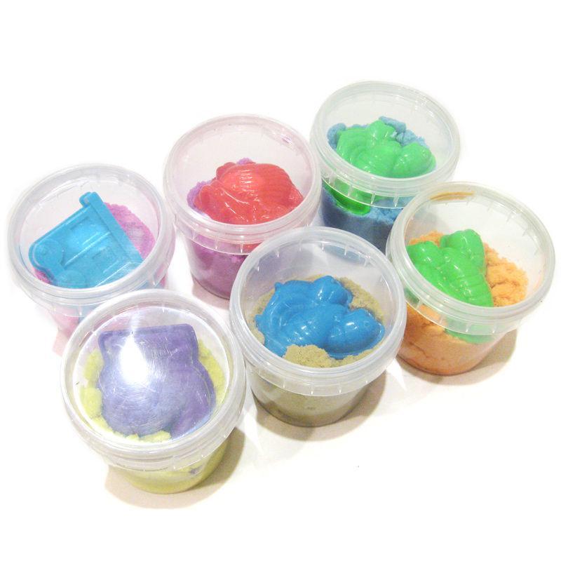 Кинетический песок D.I.Y 100гр. (цвет в ассортименте) + 1 формочка 6111