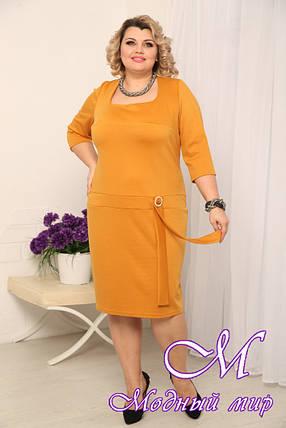 Женское горчичное платье больших размеров (р. 48-90) арт. Юфеза, фото 2
