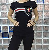 Летняя женская турецкая футболка с оригинальным рисунком , фото 1