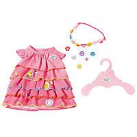 Платье летнее для куклы Baby Born Zapf Creation 824481