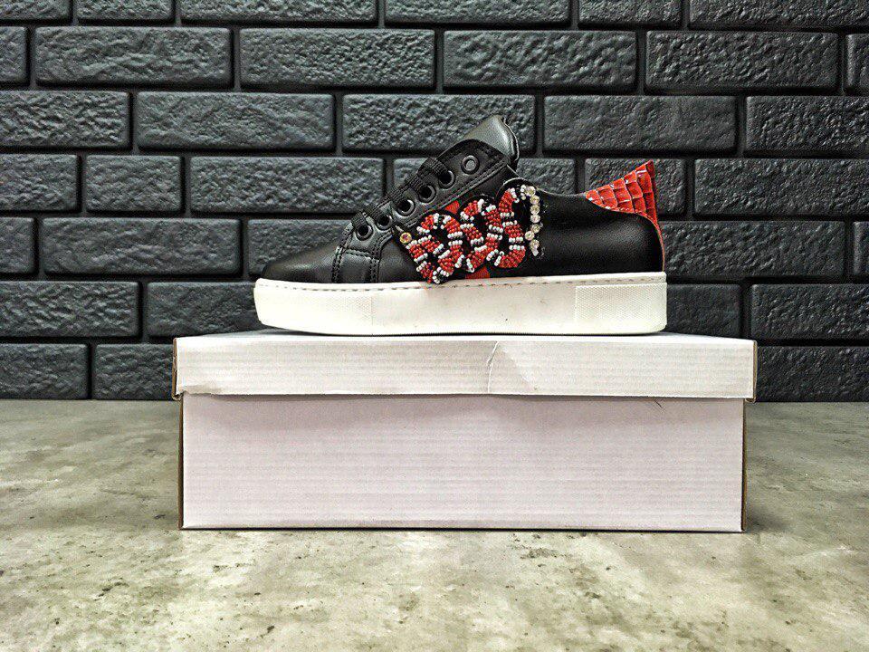 Женские кеды Gucci Ace Embroidered Sneaker, Копия