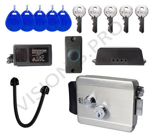 Комплект электромеханический замок с электронными ключами, фото 2