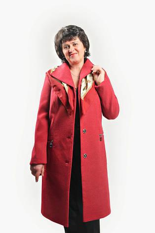 """Кардиган из пальтовой шерсти """"Меланж"""" на подкладке размеры 52-60, фото 2"""