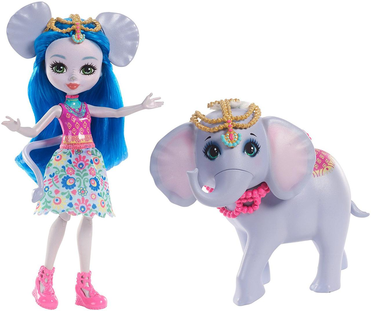 Кукла Энчантималс Слоник Екатерина и друг Антик Enchantimals Ekaterina Elephant Dolls with Antic
