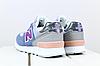 Женские замшевые кроссовки New Balance 574 синие (реплика), фото 3