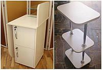 Комплект мебели для мастера маникюра стол + этажерка, фото 1