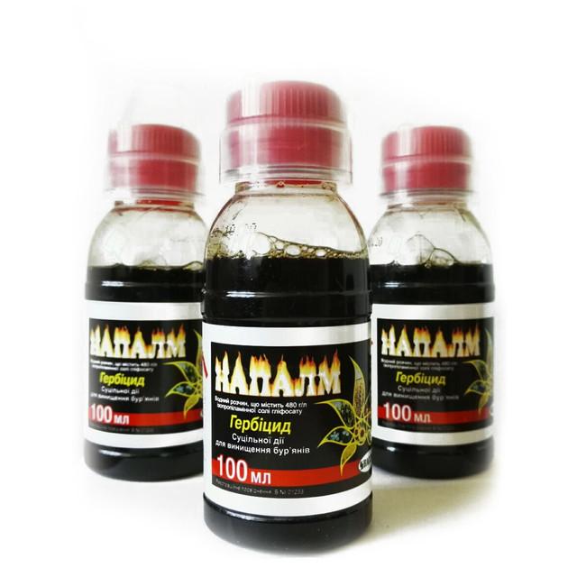 Гербицид «Напалм» – препарат сплошного действия.