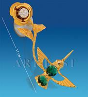 "Фигурка на липучке ""Колибри на розе"" с цв.кр. (Юнион) AR-3050/ 1"