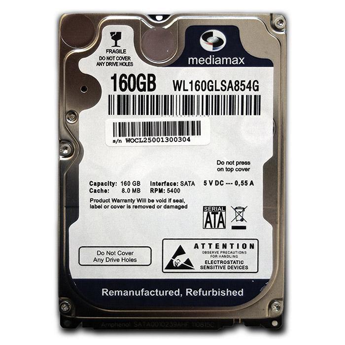Винчестер для ноутбука 160GB Mediamax(WD) WL160GLSA854G