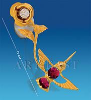 "Фигурка на липучке ""Колибри на розе"" с цв.кр. (Юнион) AR-3050/ 2"