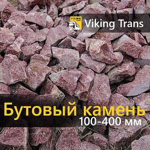 Камень бутовый кварцитовый фракции 100-400 мм красный 1 тонна