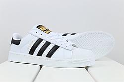 Женские кожаные кроссовки Adidas Superstar (реплика)