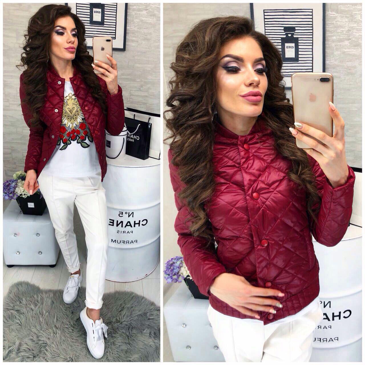 Купить Новинка весна осень 2018 куртка (арт.310), цвет марсала оптом ... 53845471c99