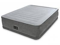Двуспальная надувная кровать Intex + встроенный электронасос 220V  152x203x46 см  (64414)